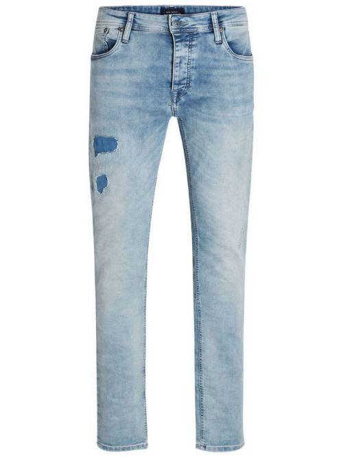 Slim Fit Jeans με Μπαλώματα