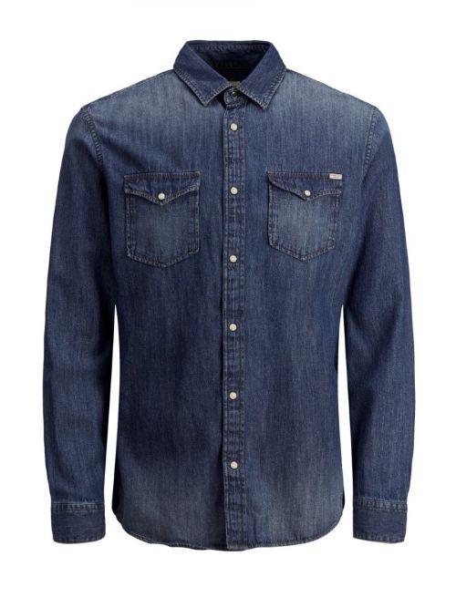 Jean βαμβακερό πουκάμισο