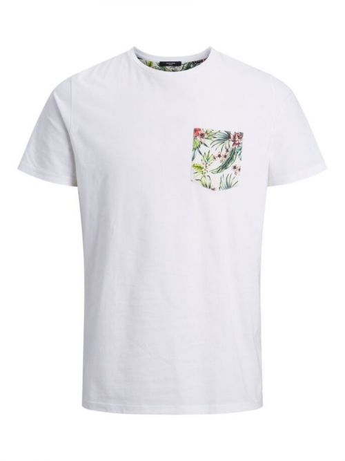 T-shirt Με Floral Τσεπάκι